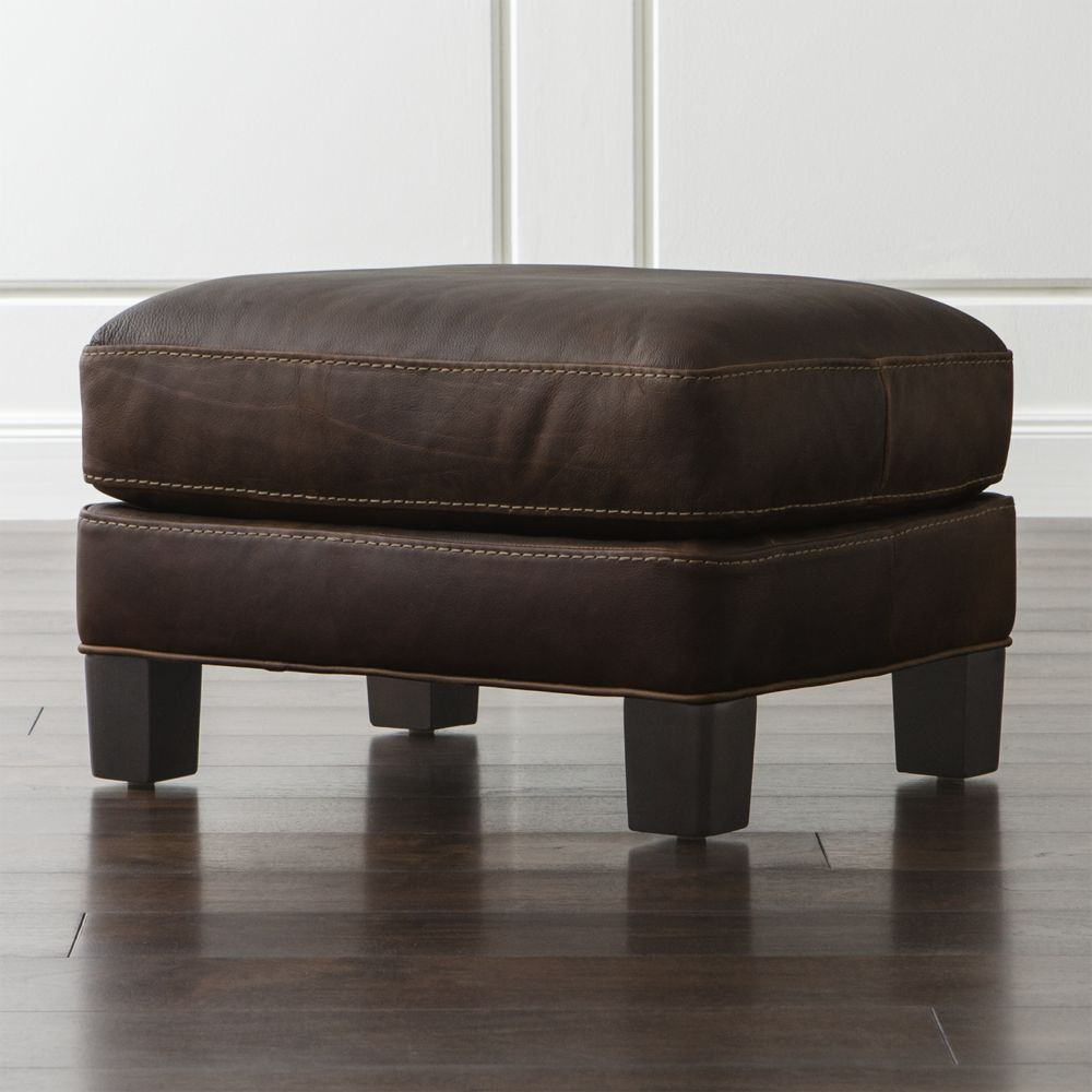 Cuero Em Muebles Muebles De Sala Otomanes Puffs Cratebarrelpe # Muebles Otomanos