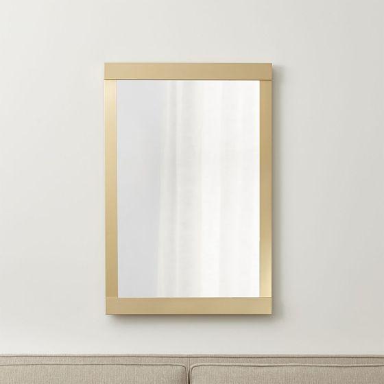 espejo de pared colby dorado claro