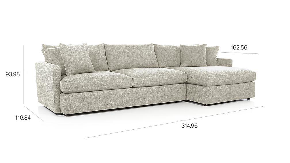 Sofá Seccional de 2 Piezas Lounge II - cratebarrelpe