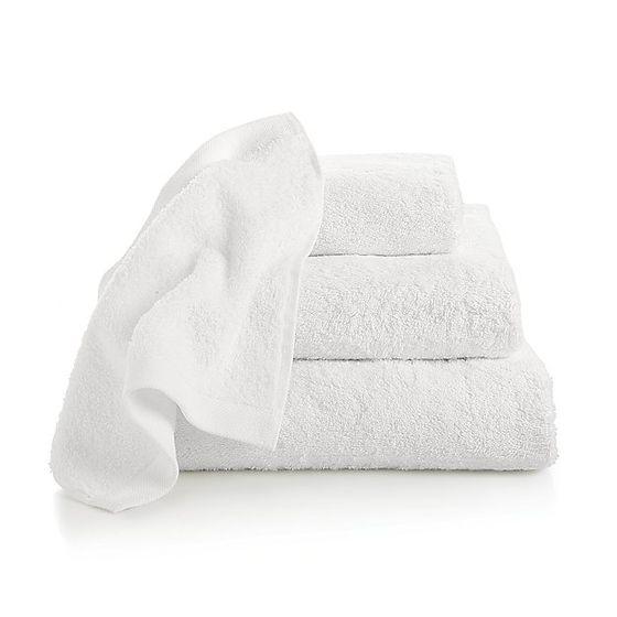 Toallas de algod n egipcio blanco cratebarrelpe - Toallas de algodon ...
