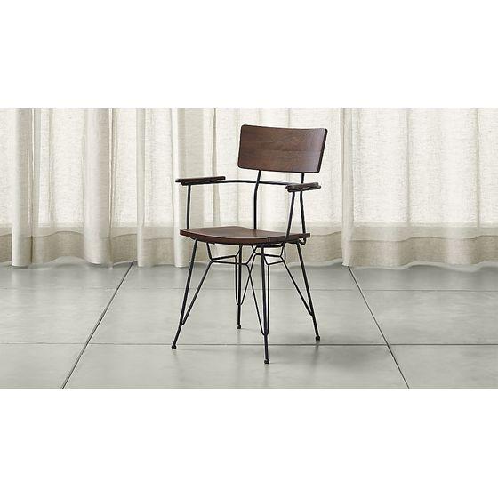 Con brazos em muebles muebles de comedor cocina sillas de comedor cratebarrelpe - Sillas de comedor con brazos ...