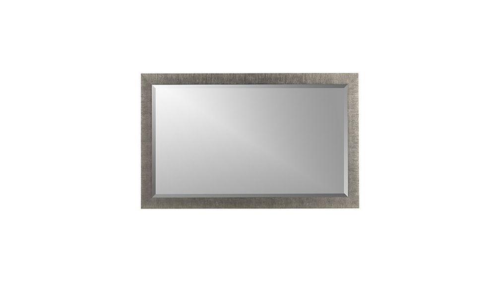 Espejo de Pared Rectangular de Abedul Plateado - cratebarrelpe