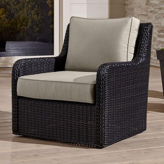 sillón Giratorio Calistoga con Cojin de Sunbrella - cratebarrelpe