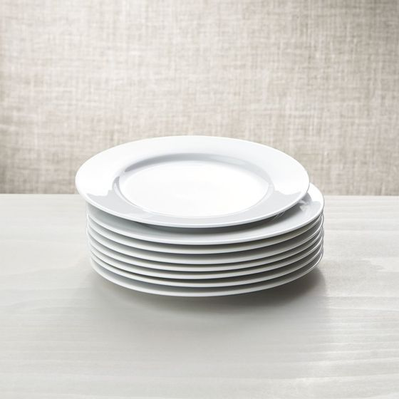 Platos de ensalada for Platos porcelana blanca