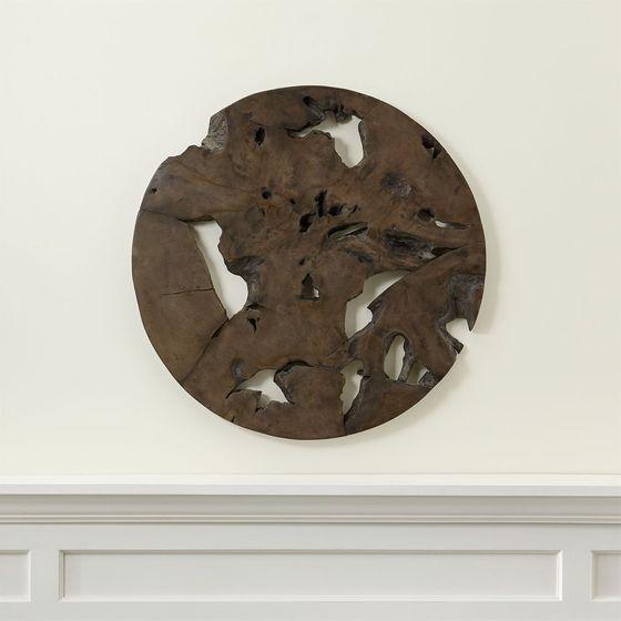 Arte-para-Pared-Circular-de-Teca-Slice-248
